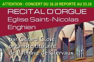 Récital d'orgue par Gérard Close