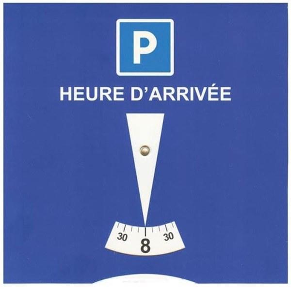 disque horaire stationnement parking zone bleue he